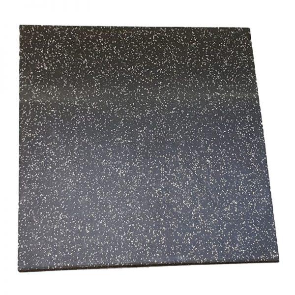 zwart met grijs spikkeltjes sportvloer tegel